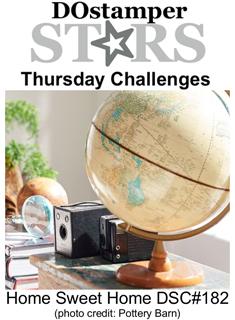 DSC#182, DOstamperSTARS, Thursday Home Sweet Home Challenge, #dostamping, #stampinup