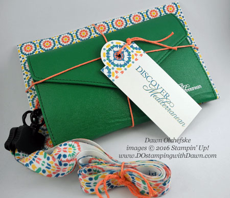 Stampin' Up! Travel Wallet shared by Dawn Olchefske #dostamping #stampinup