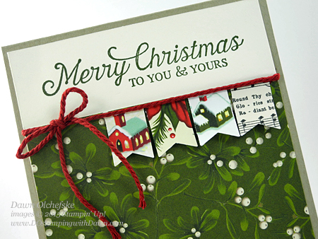 Banner Punch card created by Dawn Olchefske #dostamping #stampinup