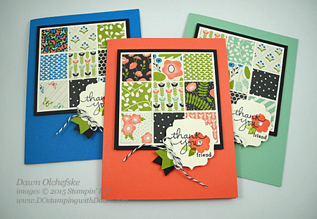 Pretty Petals Quilt cards created by Dawn Olchefske #dostamping #stampinup