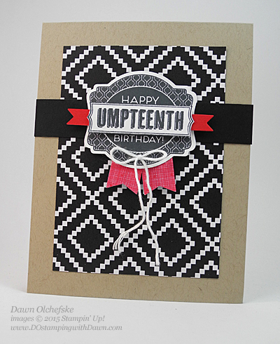 Oh My Goodies card created by Dawn Olchefske #dostamping #stampinup
