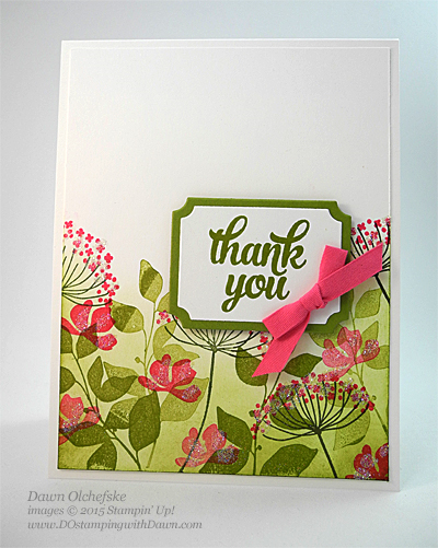 Summer Silhouettes Thank You card created by Dawn Olchefske #dostamping #stampinup