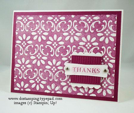 Brayer Texture Folder Card by Dawn Olchefske #dostamping #stampinup
