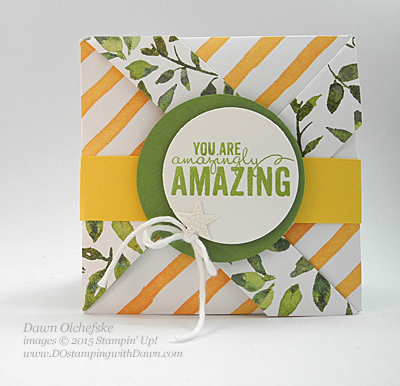 Painted Blooms Fun Fold using Stampin' Up! Diagonal Plate card shared by Dawn Olchefske #dostamping #stampinup