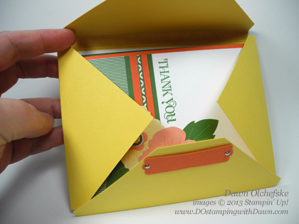 Quick & Easy Envelope Box using Stampin' Up! Diagonal Plate card shared by Dawn Olchefske #dostamping #stampinup