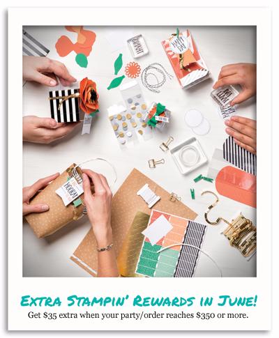 Get $35 Extra Stampin'Rewards in June 2016 with Dawn Olchefske #dostamping #stampinup