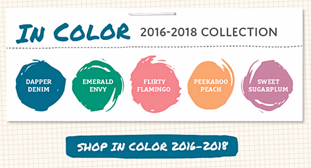 2016-2018 In Color Collection #dostamping #stampinup