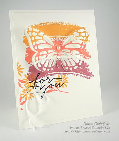 Blooms & Wishes card created by Dawn Olchefske for DOstamperSTARS Thursday Challenge #DSC185 #dostamping #stampinup