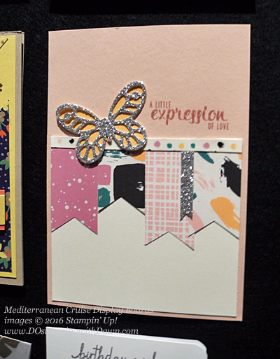 Playful Palette, Mediterranean Cruise Display Cards shared by Dawn Olchefske #dostamping #stampinu
