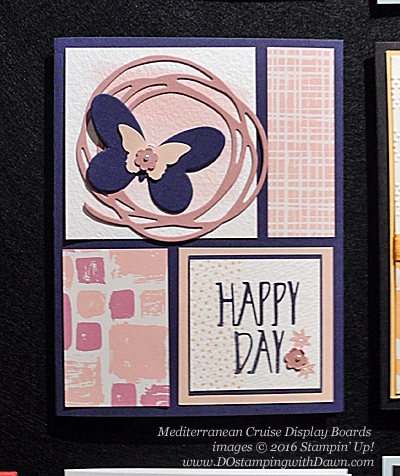 Playful Palette, Perfectly Wrapped, Mediterranean Cruise Display Cards shared by Dawn Olchefske #dostamping #stampinup