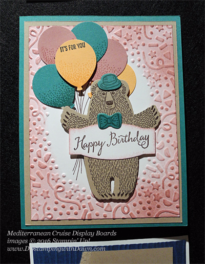 Bear Hugs, Mediterranean Cruise Display Cards shared by Dawn Olchefske #dostamping #stampinu