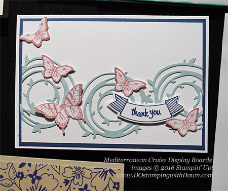 Swirly Bird Bundle Swirly Bird Mediterranean Cruise Display Cards shared by Dawn Olchefske #dostamping #stampinup