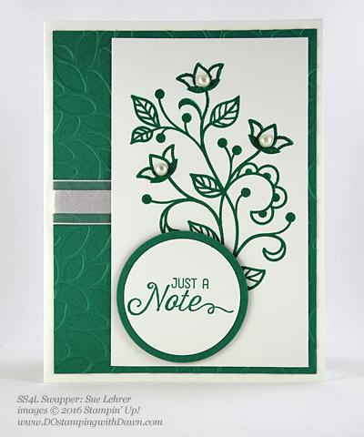 Flourishing Phrases Bundle swap cards shared by Dawn Olchefske #dostamping #stampinup (Sue Lehrer)