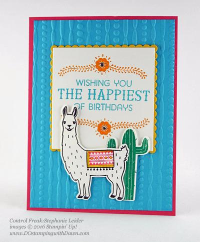 Birthday Fiesta Bundle swap cards shared by Dawn Olchefske #dostamping #stampinup (Stephanie Leider)
