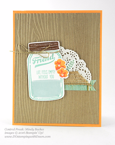 Jar of Love Bundle swap cards shared by Dawn Olchefske #dostamping #stampinup (Mindy Backes)