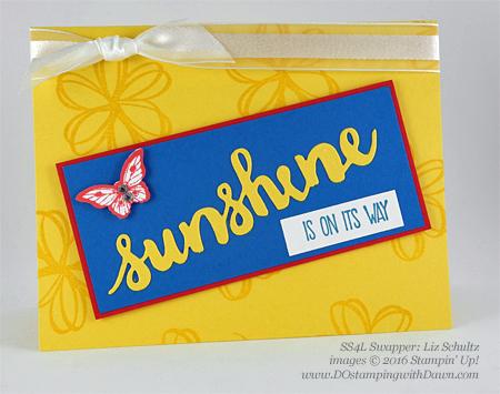Sunshine Wishes Bundle swap cards shared by Dawn Olchefske #dostamping #stampinup (Lisa Schultz)