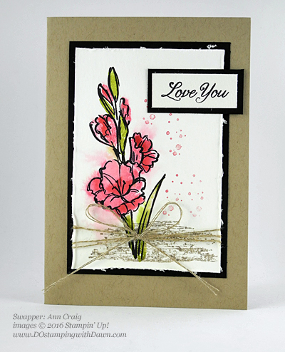 Gift of Love swap card shared by Dawn Olchefske #dostamping #stampinup (Ann Craig)