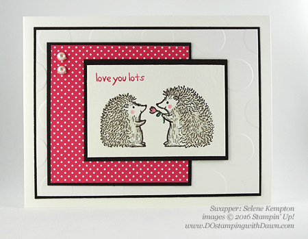 Love You Lots swap card shared by Dawn Olchefske #dostamping #stampinup (Selene Kempton)