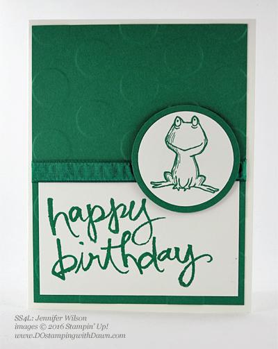 Love You Lots swap card shared by Dawn Olchefske #dostamping #stampinup (Jennifer Wilson)