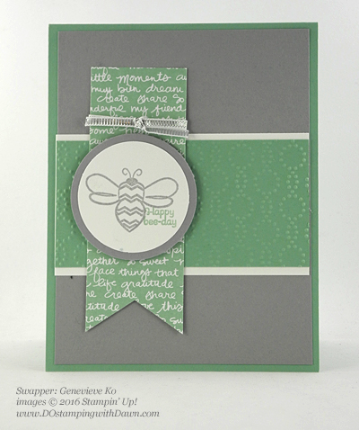 Love You Lots swap card shared by Dawn Olchefske #dostamping #stampinup (Genevieve Ko)