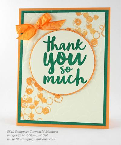 Thankful Thoughts swap card shared by Dawn Olchefske #dostamping #stampinup (Carmen McNamara)