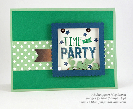 Confetti Celebration swap card shared by Dawn Olchefske #dostamping #stampinup (Meg Loven)