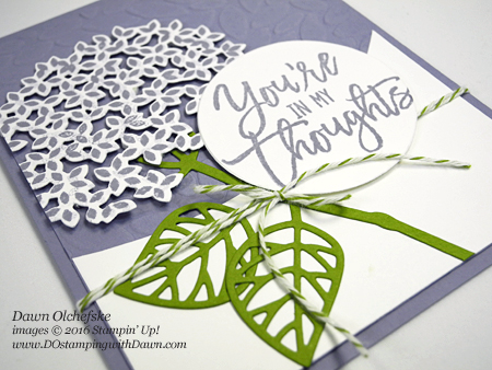 Thoughtful Branches Hydrangea card created by Dawn Olchefske for DOstamperSTARS Thursday Challenge #DSC191 #dostamping #stampinup