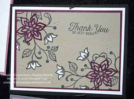 Flourishing Phrases Creative Connections display cards shared by Dawn Olchefske #dostamping #stampinup