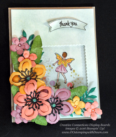 Fairy Celebration Creative Connections display cards shared by Dawn Olchefske #dostamping #stampinup