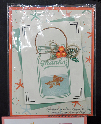 Jar of Love Creative Connections display cards shared by Dawn Olchefske #dostamping #stampinup