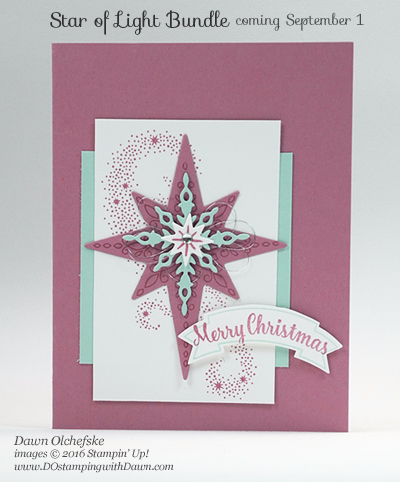 Star of Light Bundle 2016 Holiday Catalog Sneak Peek card created by Dawn Olchefske #dostamping #stampinup