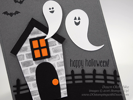 Spooky Fun Bundle with Home Sweet Home Thinlits card created by Dawn Olchefske for Control Freak Blog Tour #dostamping #stampinup