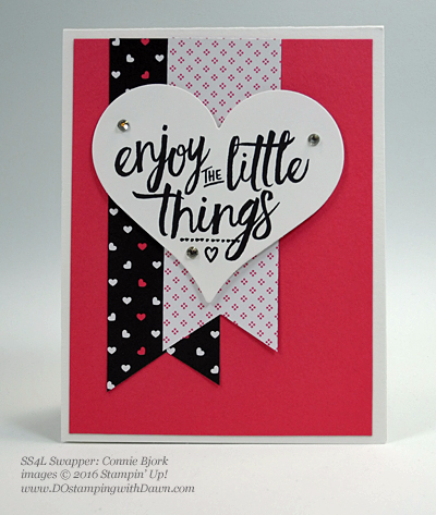 Layering Love swap cards shared by Dawn Olchefske #dostamping #stampinup (Connie Bjork)