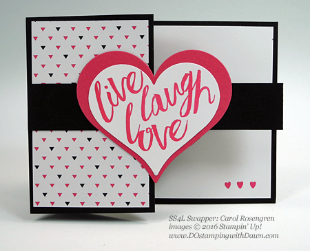 Layering Love swap cards shared by Dawn Olchefske #dostamping #stampinup (Carol Rosengren)