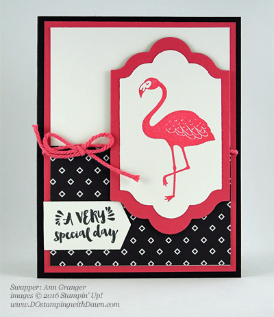 Pop of Paradise swap cards shared by Dawn Olchefske #dostamping #stampinup (Ann Granger)