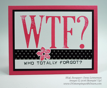 Letters For You swap cards shared by Dawn Olchefske #dostamping #stampinup (Dena Lenneman)