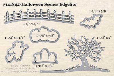 Halloween Scenes Edgelits sizes shared by Dawn Olchefske #dostamping #stampinup