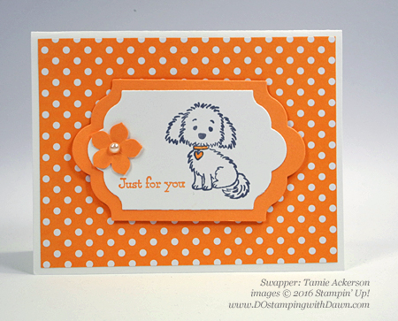 Bella & Friends swap cards shared by Dawn Olchefske #dostamping #stampinup (Tamie Ackerson)