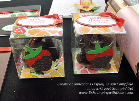 Stampin' Up! Blossom Builder Punch Creative Connections display cards shared by Dawn Olchefske #dostamping (Susan Campfield)