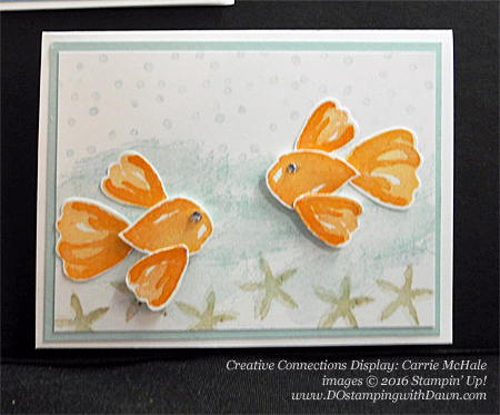 Stampin' Up! Blossom Builder Punch Creative Connections display cards shared by Dawn Olchefske #dostamping (Carrie McHale)