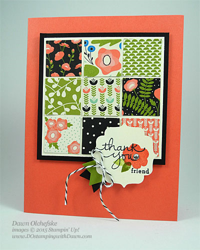"Stampin' Up! Clearance Rack 1"" square Punch card shared by Dawn Olchefske #dostamping"