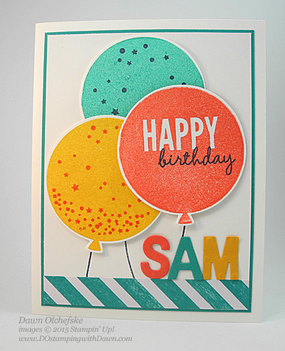 Stampin' Up! Clearance Rack Little Letters card by Dawn Olchefske #dostamping