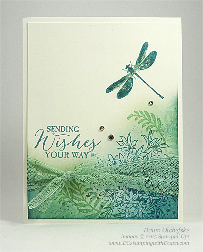 Stampin' Up! Clearance Rack Dotted Lace Ribbon Trim card shared by Dawn Olchefske #dostamping