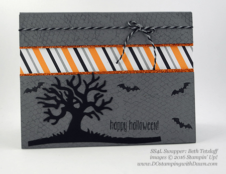 7 Stampin' Up! 2016 Holiday Catalog Halloween swap cards shared by Dawn Olchefske #dostamping (Beth Tetzlaff)