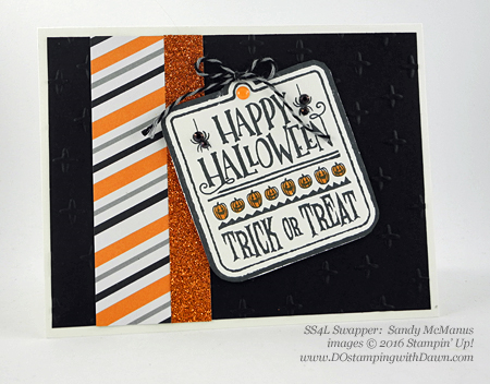7 spooky Stampin' Up! 2016 Holiday Catalog Halloween swap cards shared by Dawn Olchefske #dostamping (Sandy McManus)