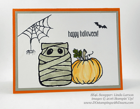 8 Spooky Stampin' Up! Halloween swap cards shared by Dawn Olchefske #dostamping (Linda Larson)