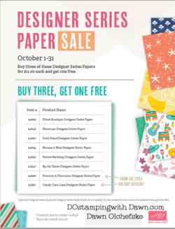 Stampin' Up! Designer Series Paper Sale Buy 3 Get 1 FREE #dostamping