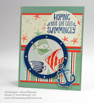 Stampin' Up! By The Shore swap cards shared by Dawn Olchefske #dostamping (Missy Shipman)