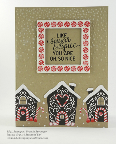 Stampin' Up! Candy Cane Lane swap cards shared by Dawn Olchefske #dostamping #stampinup (Brenda Sprenger)