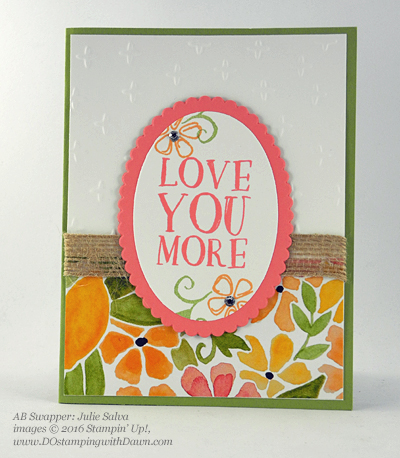 Stampin' Up! Fruit Stand swap cards shared by Dawn Olchefske #dostamping #stampinup (Julie Salva)